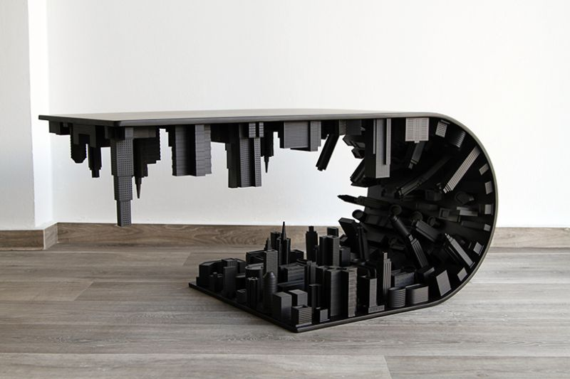 Skyscraping Modern Coffee Tables by Stelios Mousarr