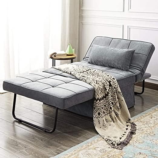 Amazon.com: Vonanda Ottoman Folding Chair Bed, Modern Velvet .