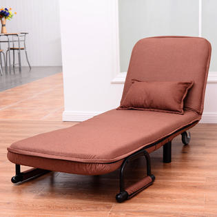 Costway Convertible Sofa Bed Folding Arm Chair Sleeper Leisure .
