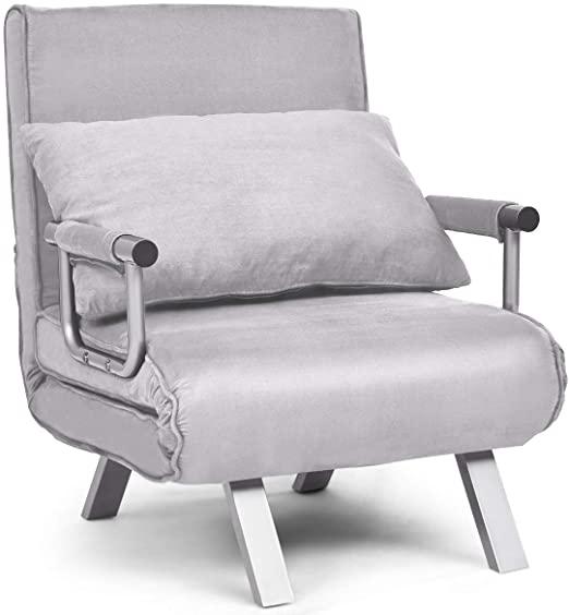 Amazon.com: Giantex Convertible Sofa Bed Folding Arm Chair Sleeper .