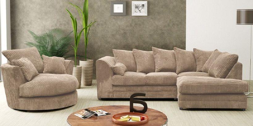 Fabric Corner Sofa with Swivel Chair | Corner sofa and swivel .