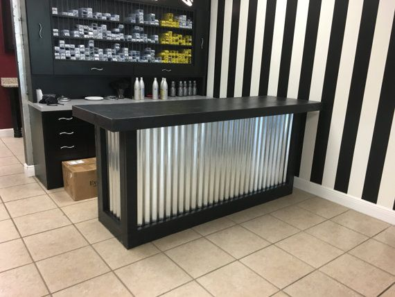 Counter - 6' Rustic style corrugated metal sales counter | Bars .