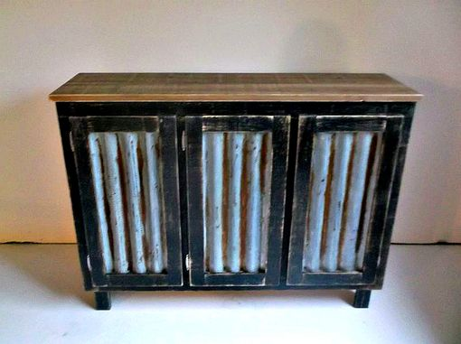 Buy Hand Crafted Rustic Bar Cabinet With Reclaimed Corrugated .