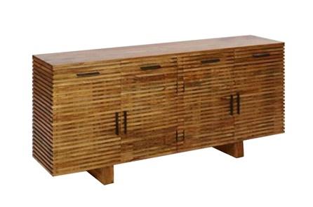 Corrugated Natural 4-Drawer Sideboard | Living Spac