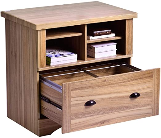 Amazon.com: Lateral File Cabinet with 1 Drawers and Open Storage .