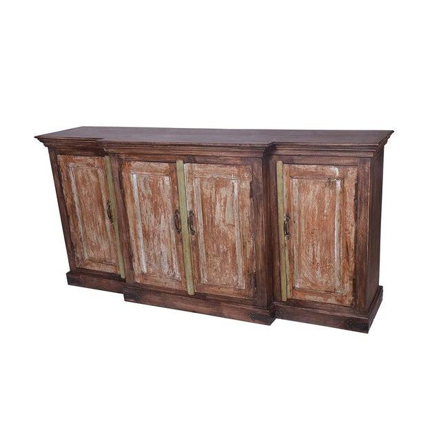 Hugh Wooden 4 Door Rustic Sideboard for Living Room | Chairi