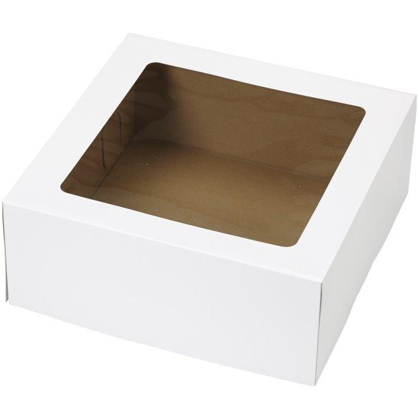 Wilton Window Cake Box, White, 14x14x6 inch, 2 Pack - Walmart.com .