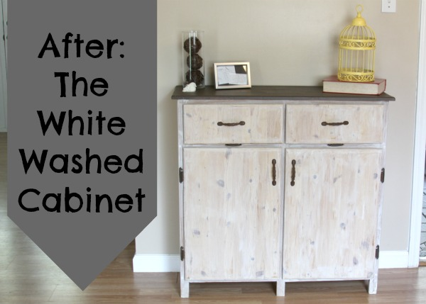 Painting Furniture: The White Washed Cabinet • Crafting a Green Wor