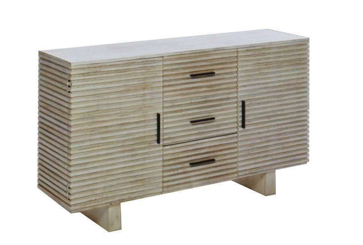Corrugated White Wash Sideboard | Whitewash sideboard, White wash .