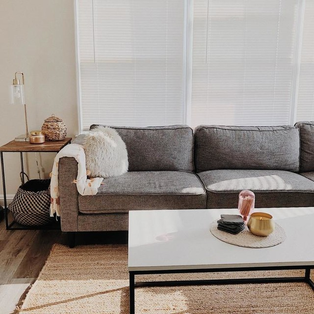 Cosmos Grey 2 Piece Sectional With Right Arm Facing Chaise .