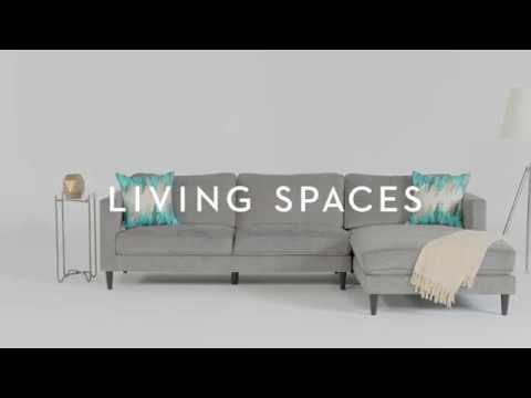 Cosmos Grey 2 Piece Sectional with Chaise | Living Spaces - YouTu