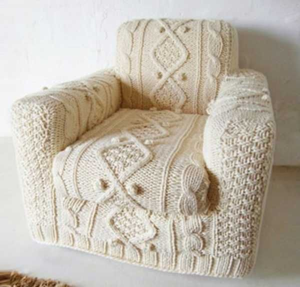 30 Knitted Furniture Covers and Decorative Accessories Celebrating .