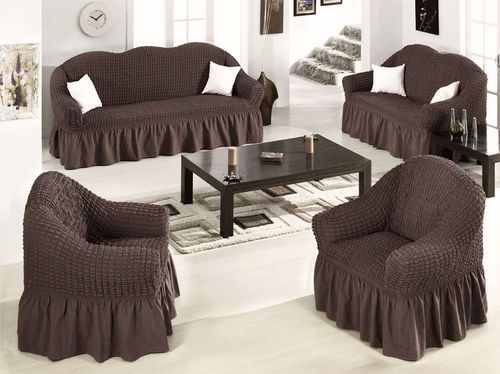 Details about Elastic Stretch Slip Fit Sofa Covers Slipcover Couch .