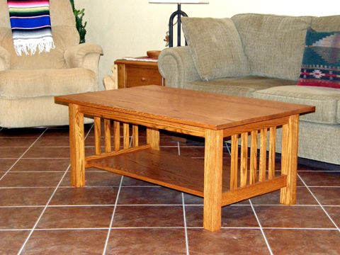 Craftsman Style Coffee Table - Done | Craftsman coffee tables .