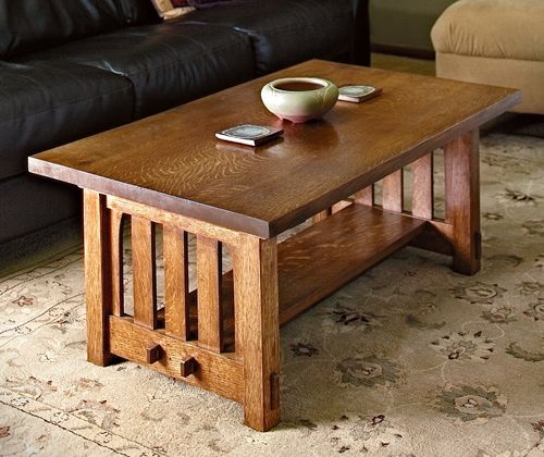 How to Build a Mission-Style Coffee Table in the Arts and Crafts .