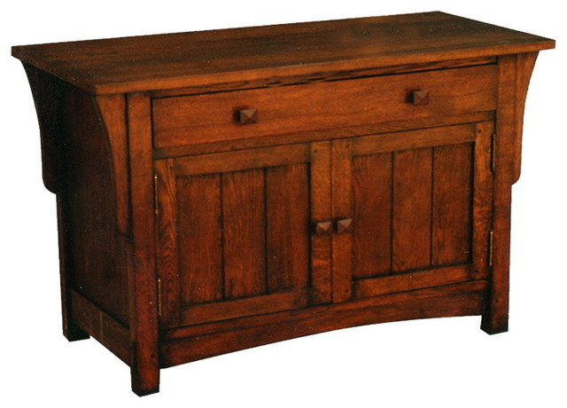Arts and Crafts Mission Oak Sideboard or Entry Way Cabinet .