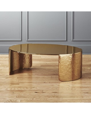 Here's a Great Deal on Cuff Hammered Gold Coffee Table by C