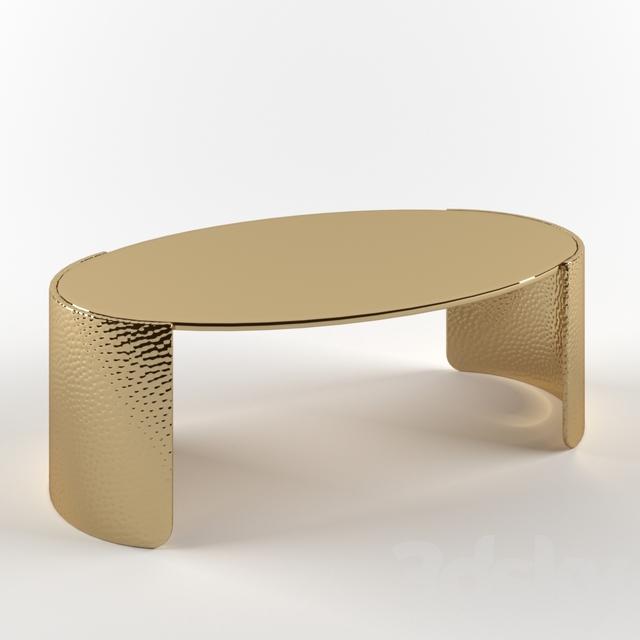 3d models: Table - CB2 Cuff Hammered Tab