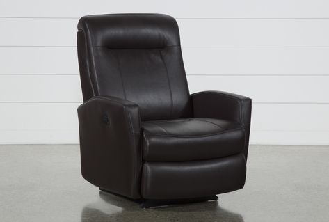 Dale III Polyurethane Power Rocker Recliner W/Power Headrest .