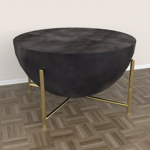 Darbuka Brass Coffee Table 3D Model - 3DHunt.