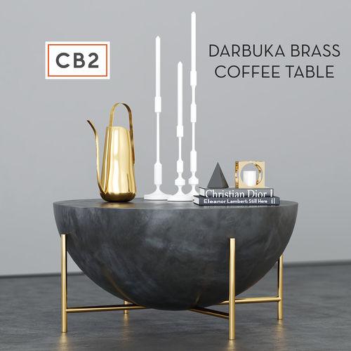 CB2 Darbuka brass coffee table 3D | CGTrad