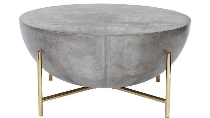 Darbuka Brass Half Sphere Coffee Table | Furniture design wooden .