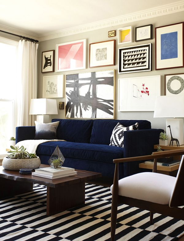 On My Mind Monday - Blue Sofas | Eclectic living room, Home living .
