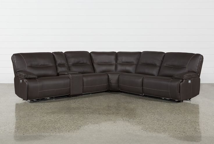 Declan 3 Piece Power Reclining Sectional With Right Facing Console .