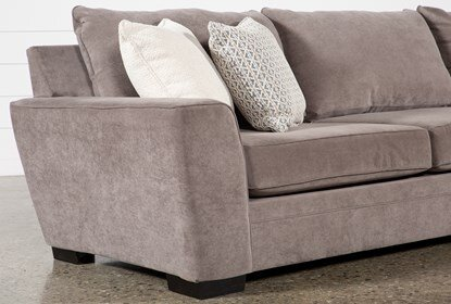 Delano Charcoal 2 Piece Sectional With Right Arm Facing Chaise .