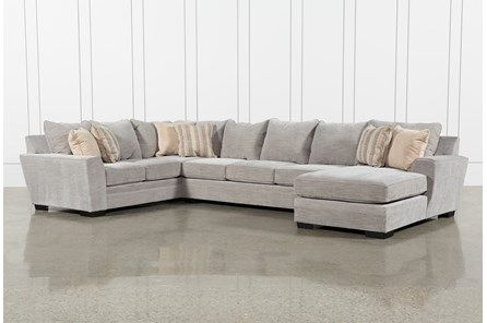 Delano Smoke 3 Piece Sectional | Shabby chic room, Shabby chic .