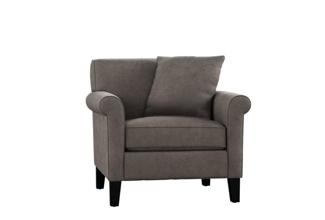Devon II Dark Grey Arm Chair | Living Spac