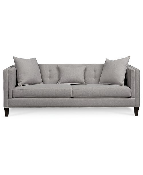 """Furniture Braylei 88"""" Fabric Track Arm Sofa, Created for Macy's ."""