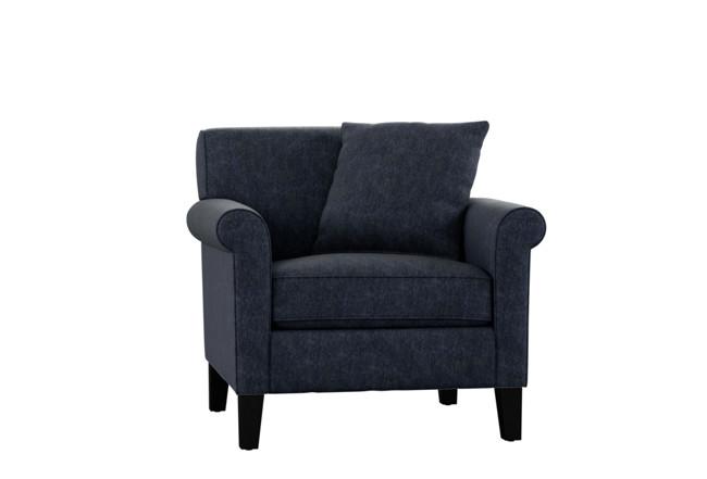 Devon II Navy Blue Arm Chair | Living Spac