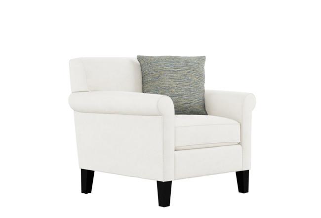 Devon II Light Grey Arm Chair | Living Spac