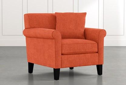 Devon II Orange Arm Chair | Living Spac