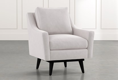 Devon II Light Grey Swivel Accent Chair | Living Spac