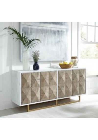 Reclaimed Pine Diamond Design 11 Drawer Sideboa