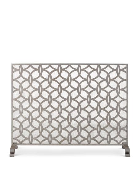 Circle & Diamond Geometric Single Panel Fireplace Scre