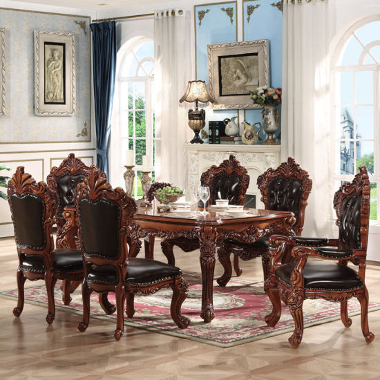 China Wood Dining Table with Sofa Chair for Dining Room Furniture .