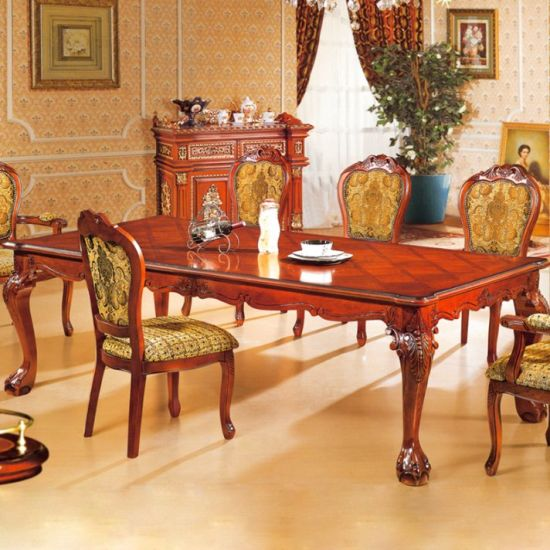 China Classic Dining Table with Sofa Chairs for Home Furniture .