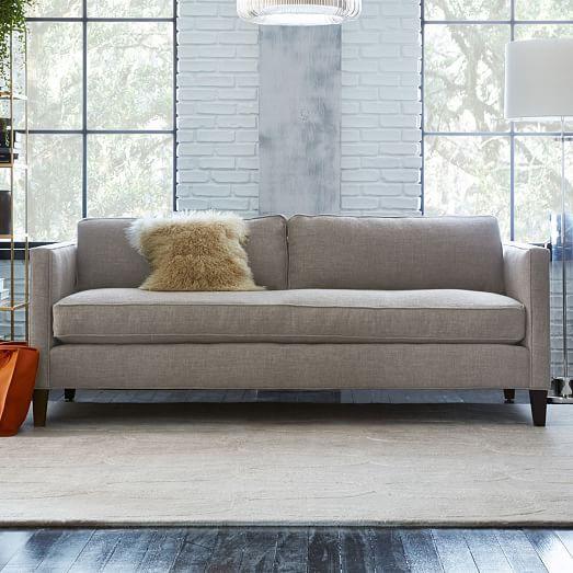 Dunham Down-Filled Sofa - Box Cushion | West Elm | Sofa, Sofa .