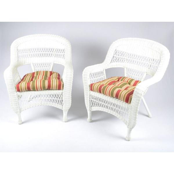 Tortuga Outdoor Portside White 5-Piece Wicker Outdoor Dining Set .