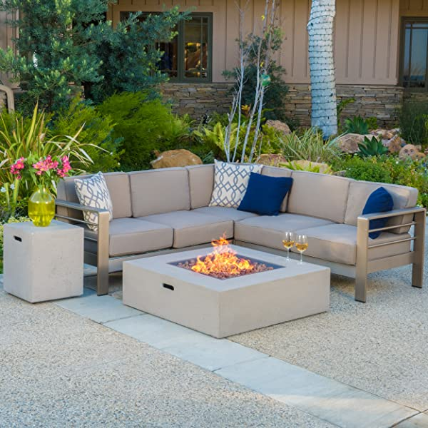 Amazon.com: Christopher Knight Home Cape Coral Outdoor V-Shaped .