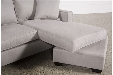 Egan II Cement Sofa With Reversible Chaise | Sectional sofa with .