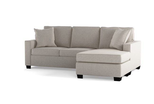 Egan II Cement Sofa with Reversible Chaise - Grey - $495 .