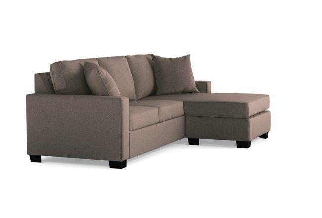 Egan II Cement Sofa with Reversible Chaise - Grey - $495 | Sofa .