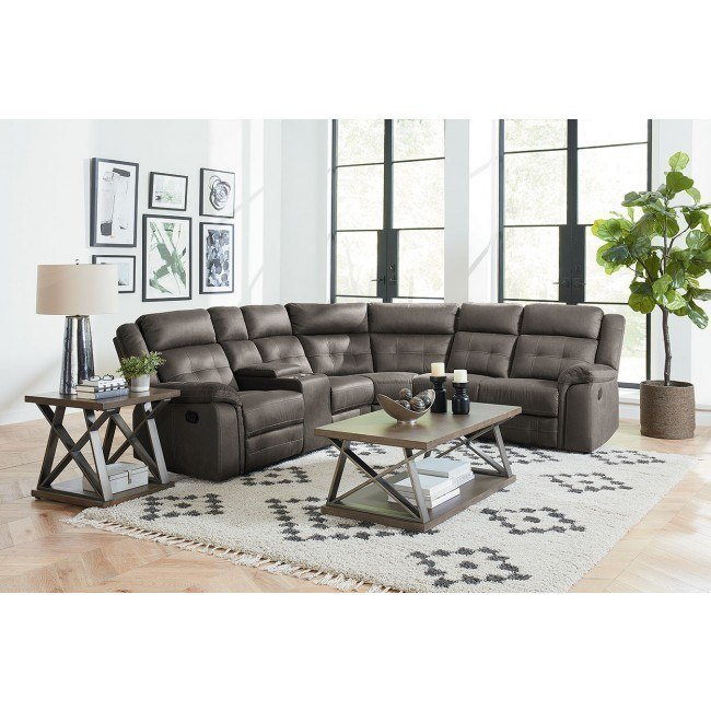 El Paso Reclining Sectional w/ Console (Grey) by Standard .