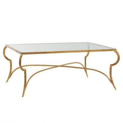 Elba Cocktail Table | Gold leaf furniture, Gilded furniture .