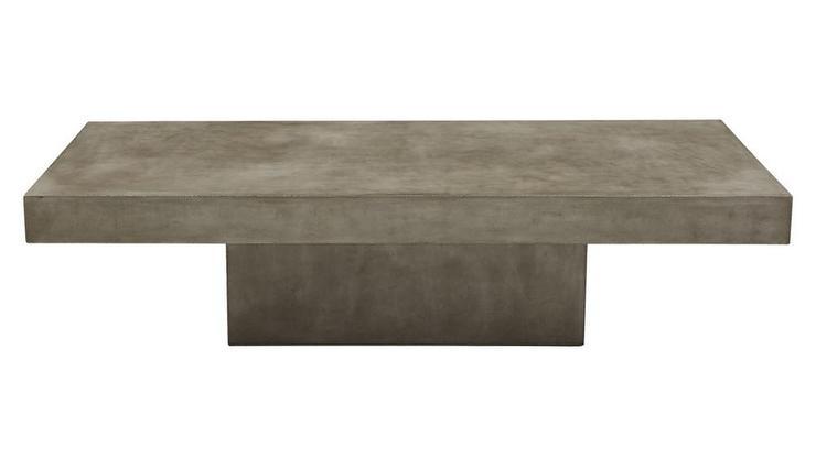 Element Rectangular Grey Concrete Coffee Tab