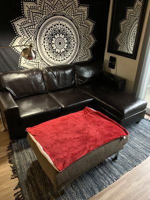 New and Used Leather couch for Sale in Elk Grove, CA - Offer